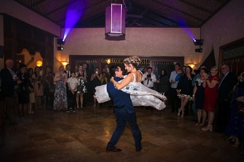 impressive marble ballroom is available to all guests - Villa Botanica Summer Indoor Wedding