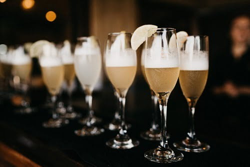 cocktail champagne for Villa Botanica's Luxury Wedding