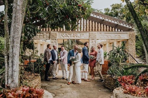 intimate spring wedding with families and friends at Villa Botanica Cactarium