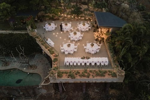 luxury wedding top view of Villa Botanica's Whitsunday Venue