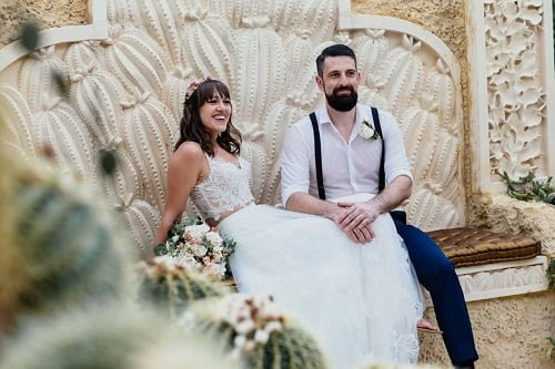 no receiving line at Villa Botanica as 2021 wedding trend